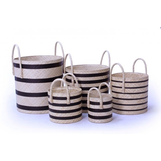 handicraft Pandanus Round Basket set of 5