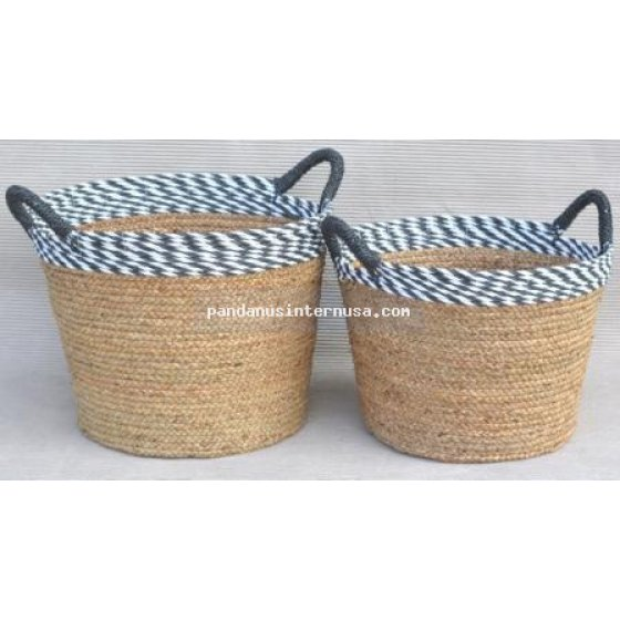 handicraft Sea grass tapperred basket set of 3