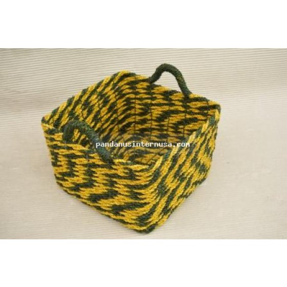 handicraft Seagrass square basket