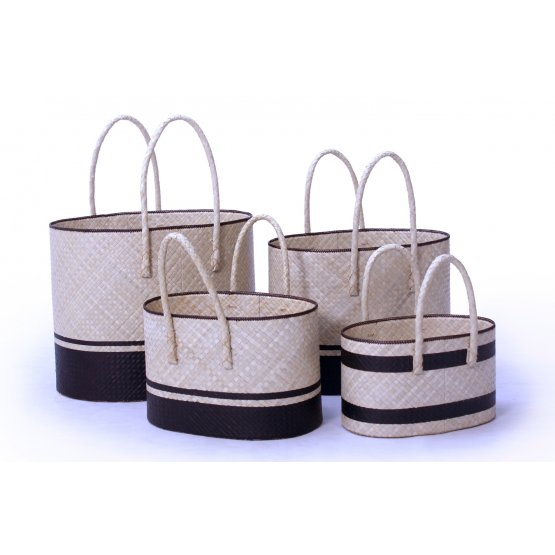 handicraft Pandanus oval basket set of 4